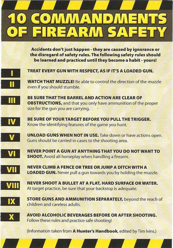 10 commandments of Firearm safety Haha Firearm