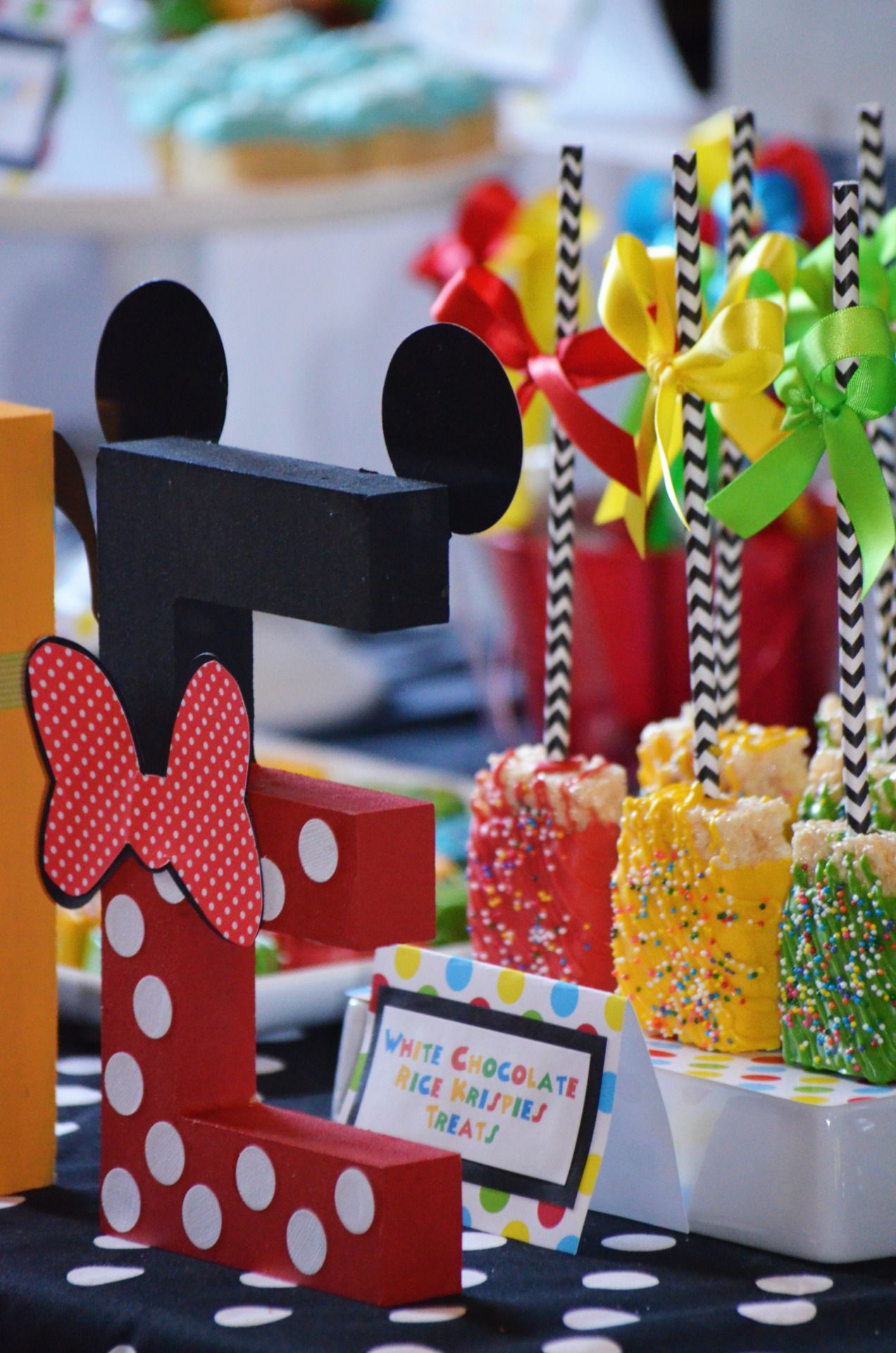 Mickey Mouse Clubhouse themed 1st Birthday Party Dessert