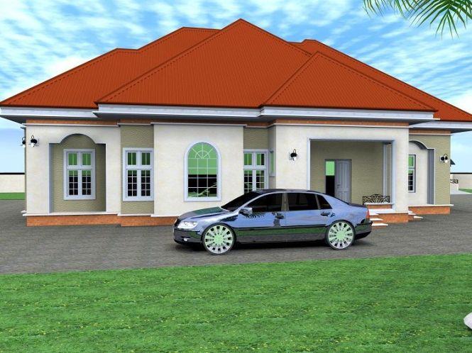 House Design Addict 4 Bedroom Bungalow Architectural