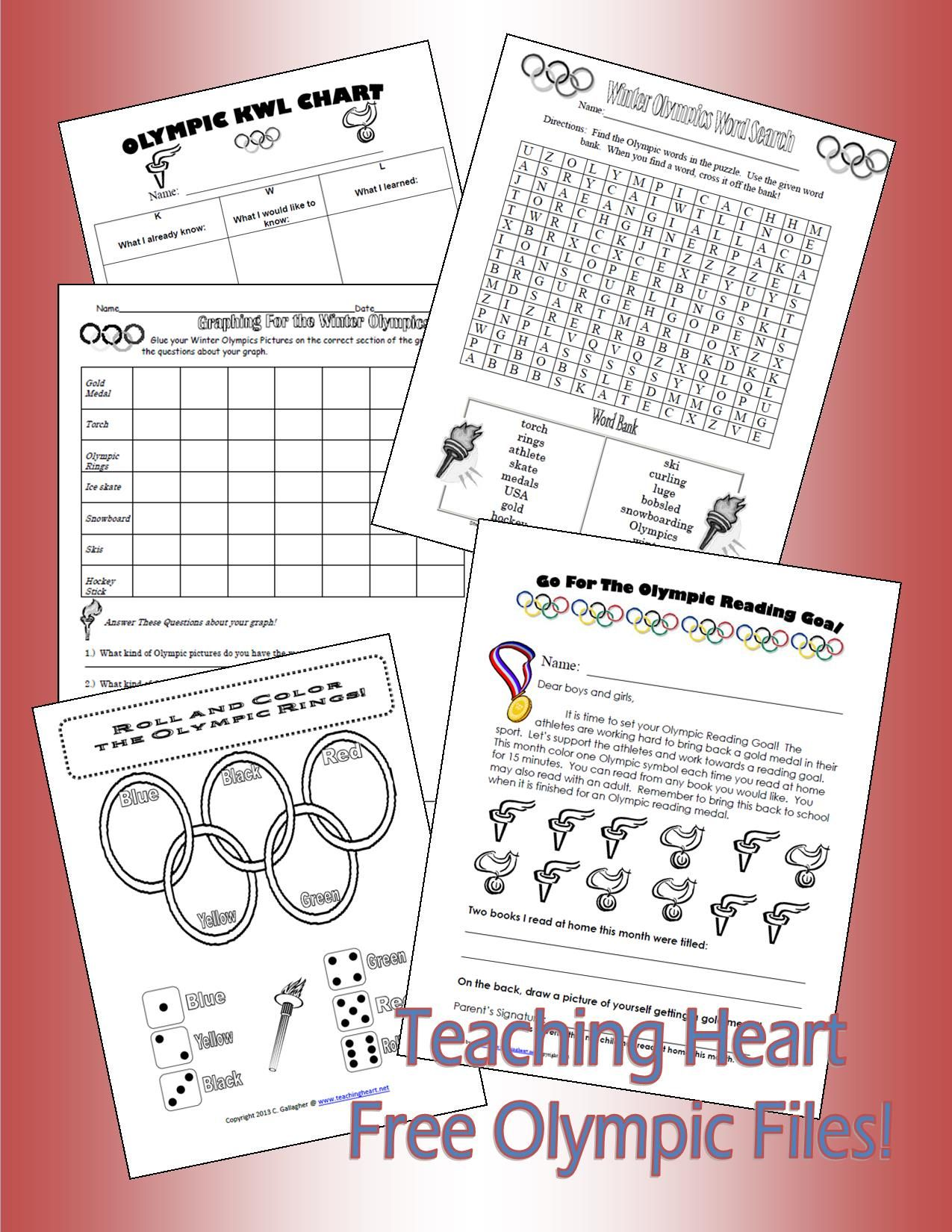 Olympic Printables Free From Teaching Heart Blog