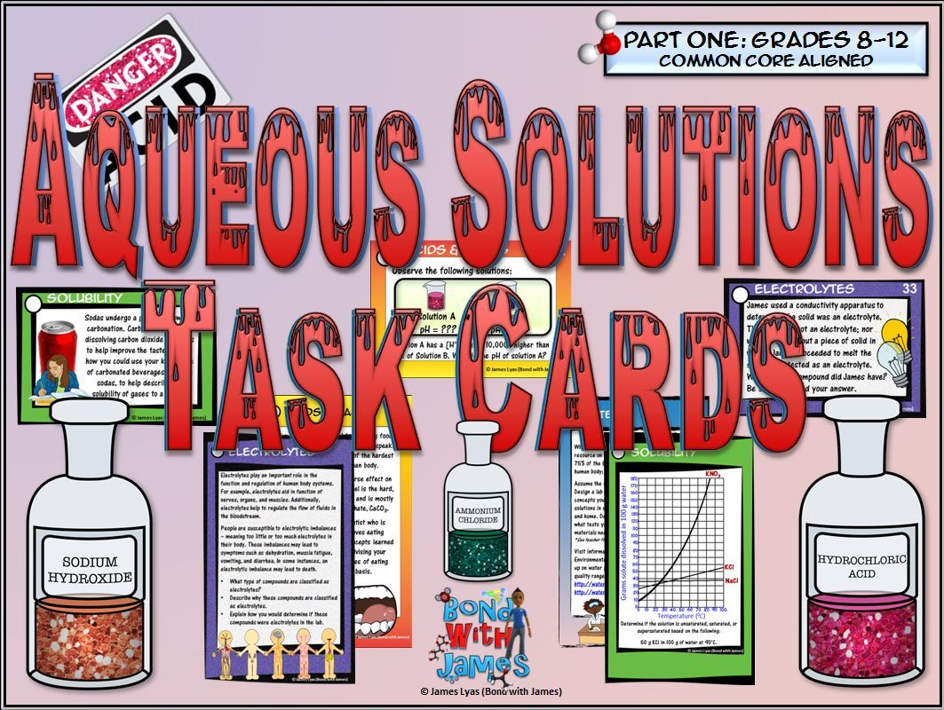 Aqueous Solutions Task Cards