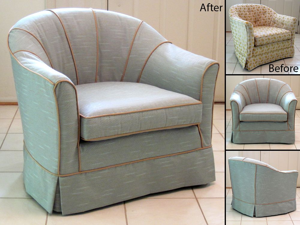 Slipcovered barrel back chair Slipcovers Pinterest