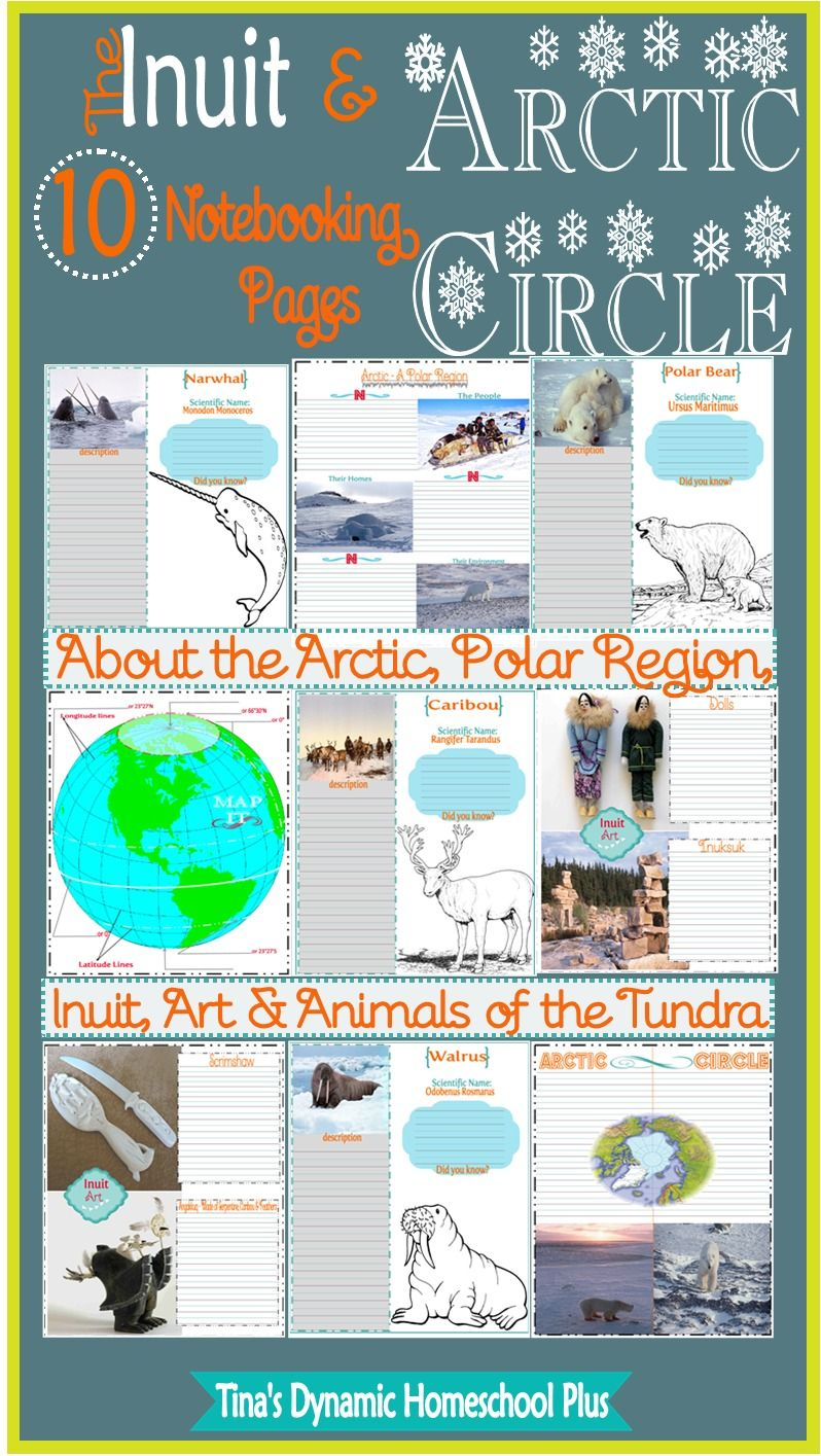 Inuit Art, Arctic Circle + 10 Notebooking Pages & Free
