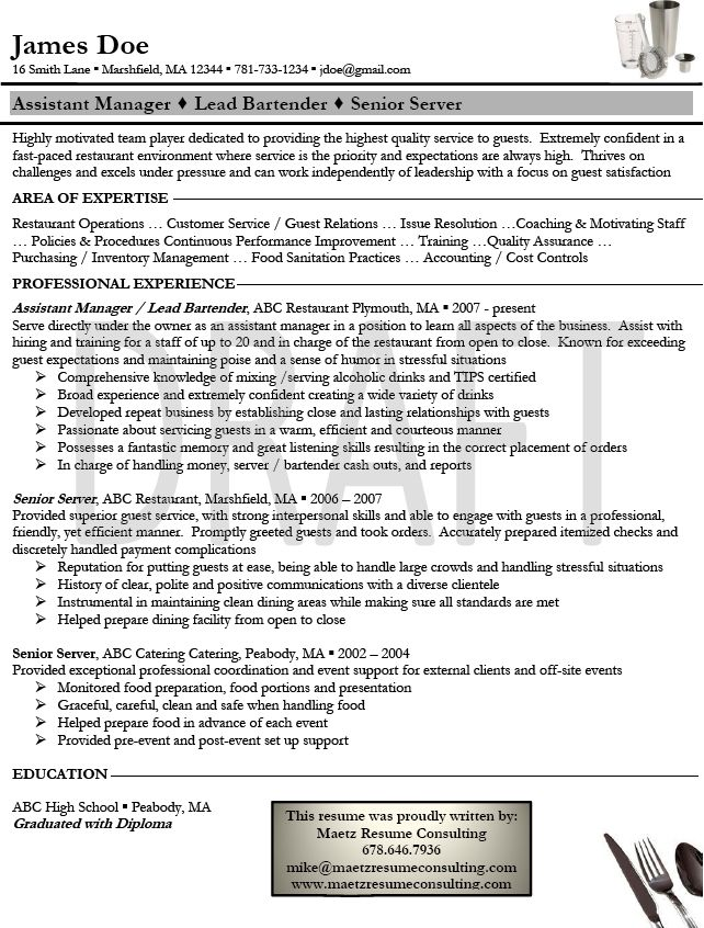 1000 images about 1resumes4bartending on pinterest resume