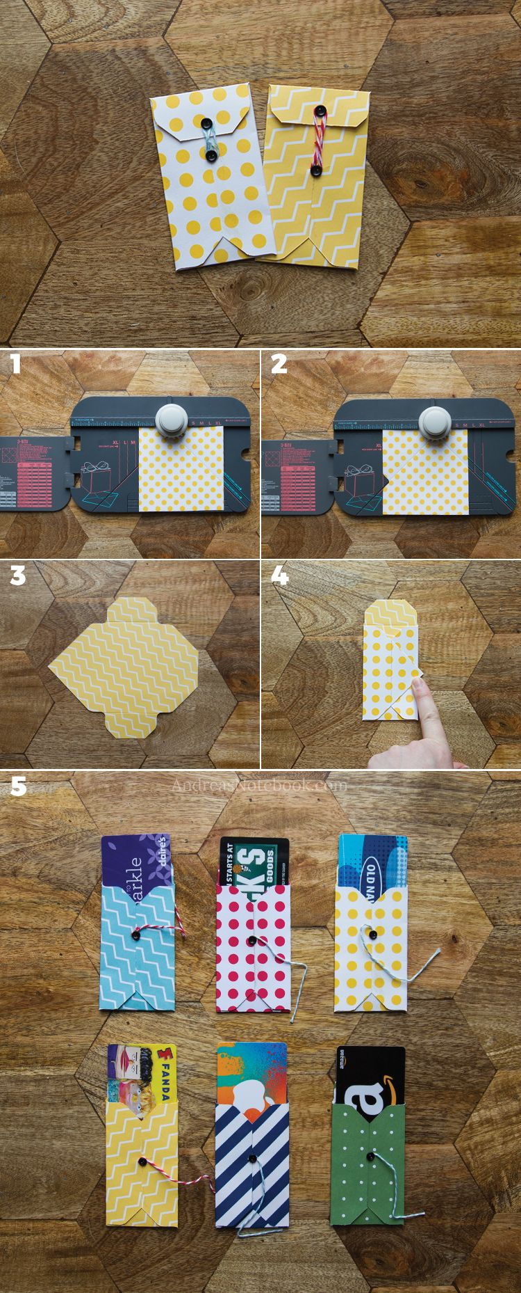 DIY gift card holder tutorials