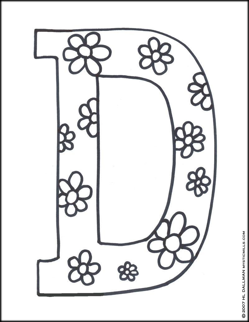 Letter D Printables Letter D Coloring Pages Coloring Pages