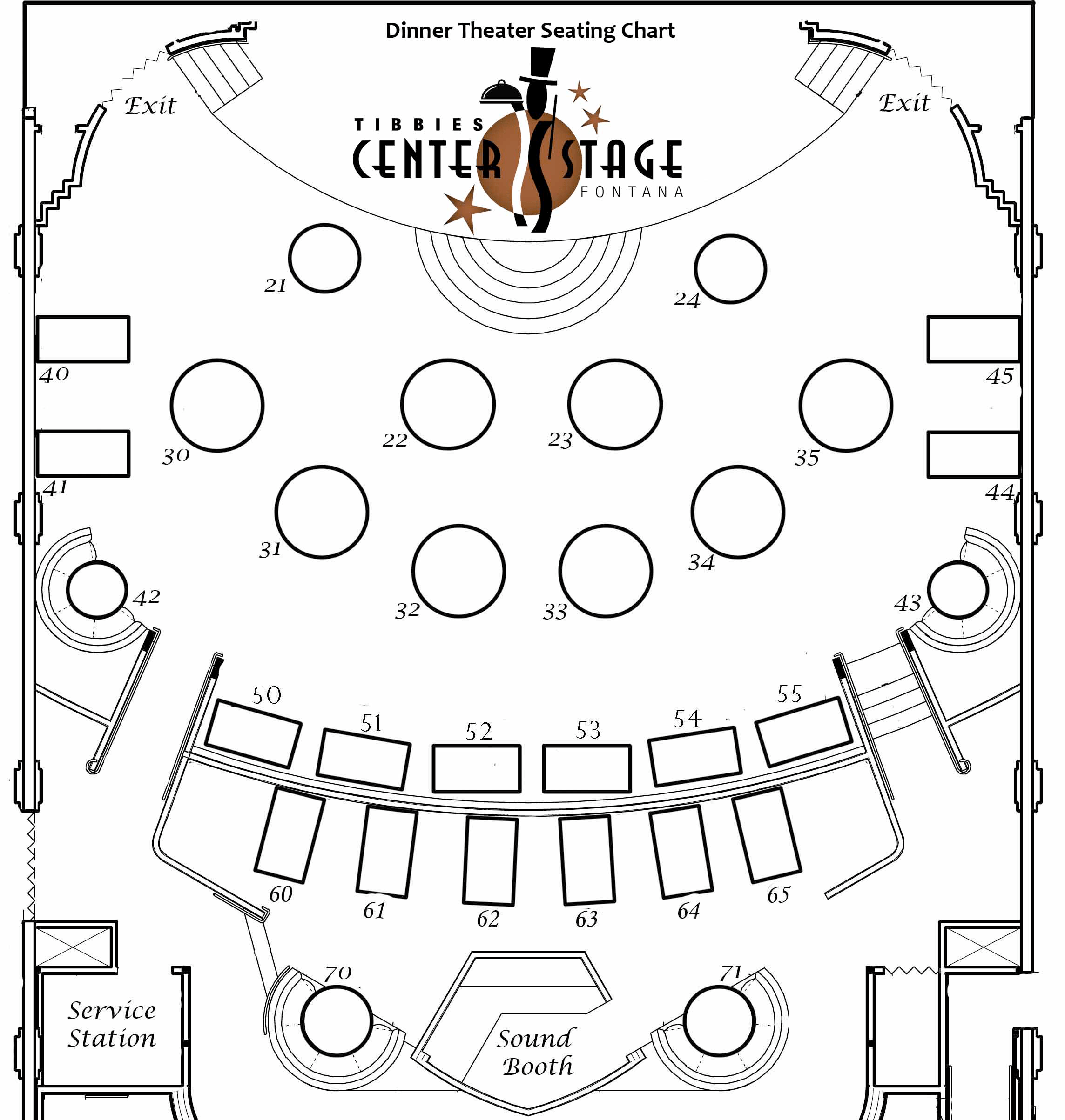 Event Table Layout Template