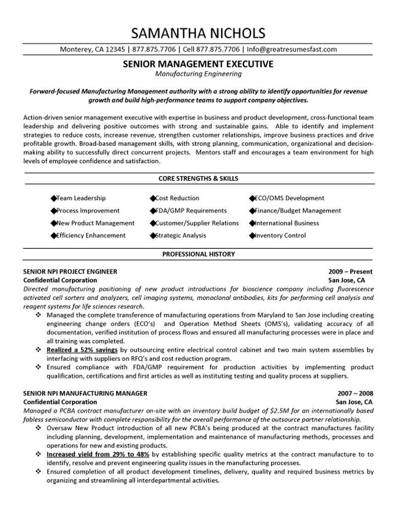 sample resume engineering engineering manager resume sample