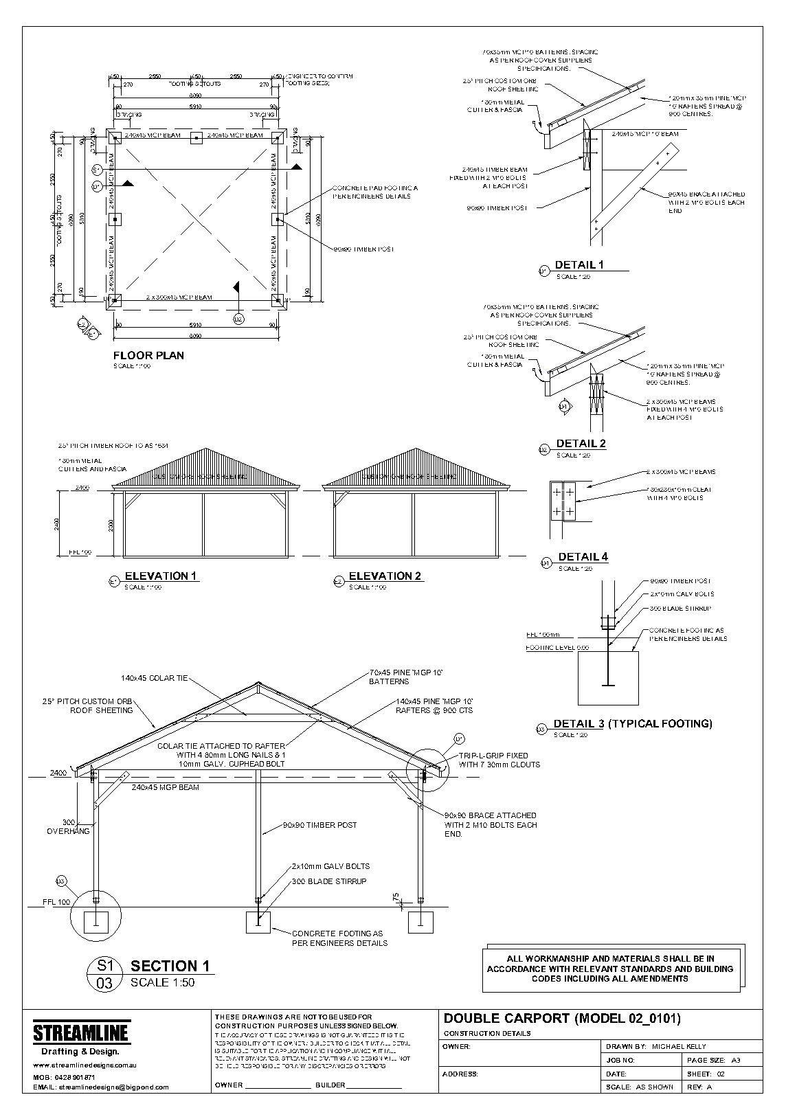 Download Free Carport Plans Building Carport Pinterest
