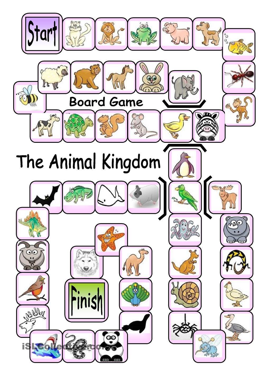 Board Game The Animal Kingdom English Language, ESL