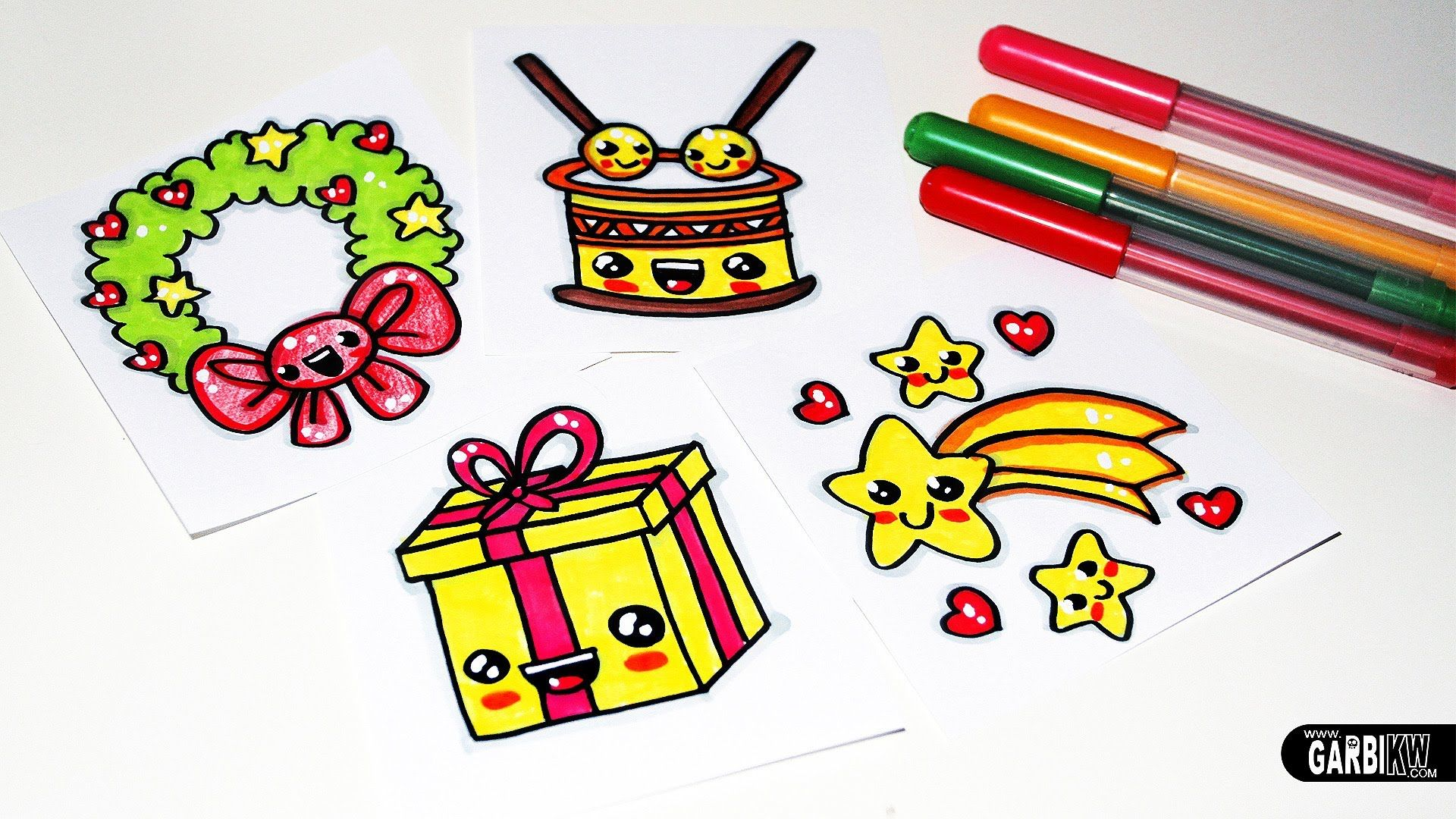 How to Draw Christmas Stuff Easy and Kawaii Drawings by