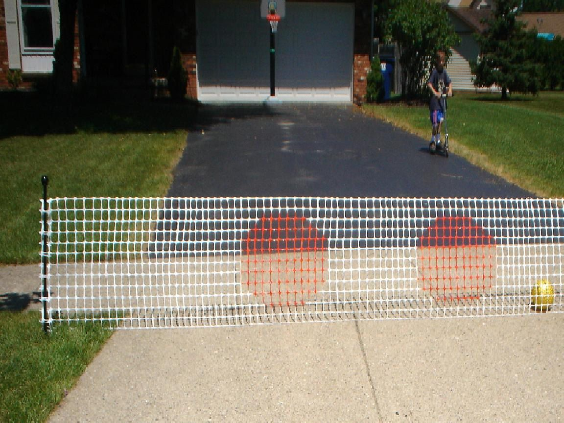 DRIVEWAY BALL STOP Safety fence Driveway Guard Barrier Net