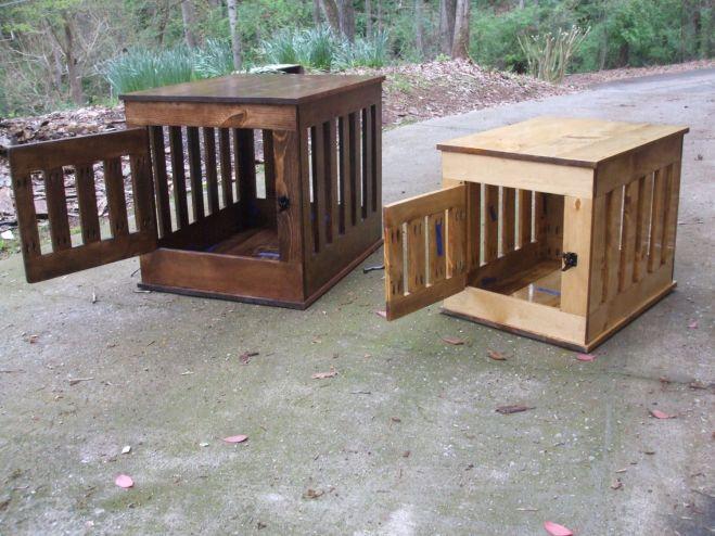 Dog crate end table wooden dog kennel indoor wood dog