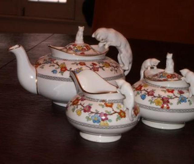 Spode China Tea Set With Cat Handles Posted By Ruby Ellen Antique Appraisalchina