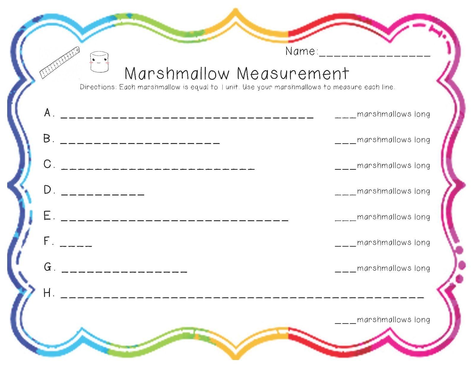 Measuring Length Worksheets First Grade