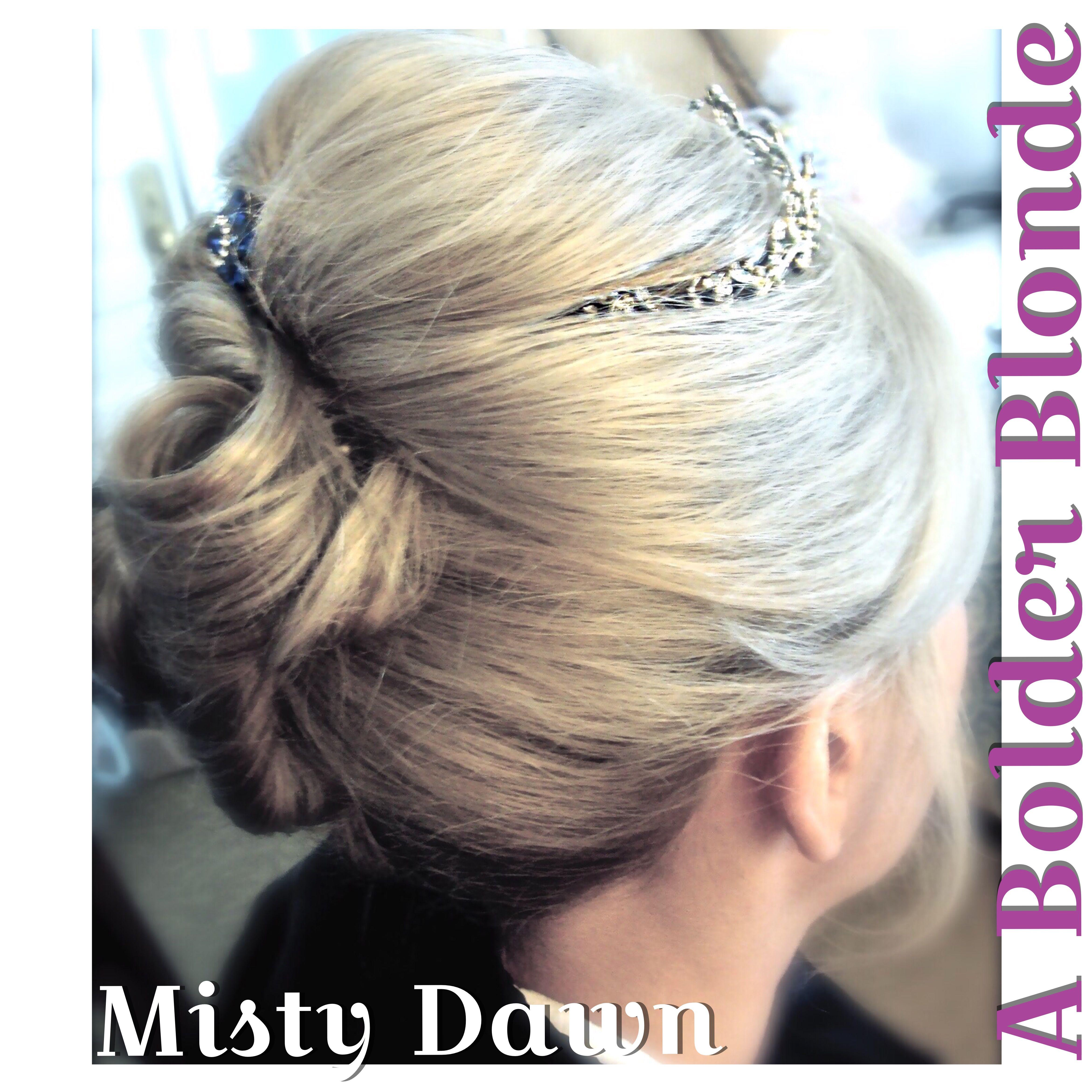 ABolderBlonde MistyDawn Bride BridalUpdo WeddingHair Colorado