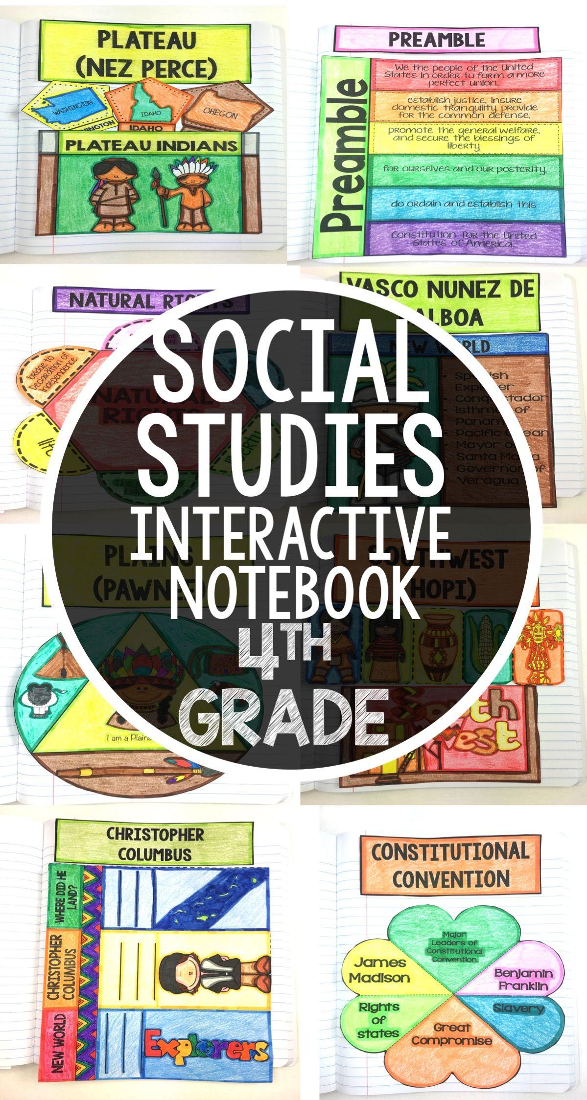 Social Stu S Interactive Notebook For 4th Grade