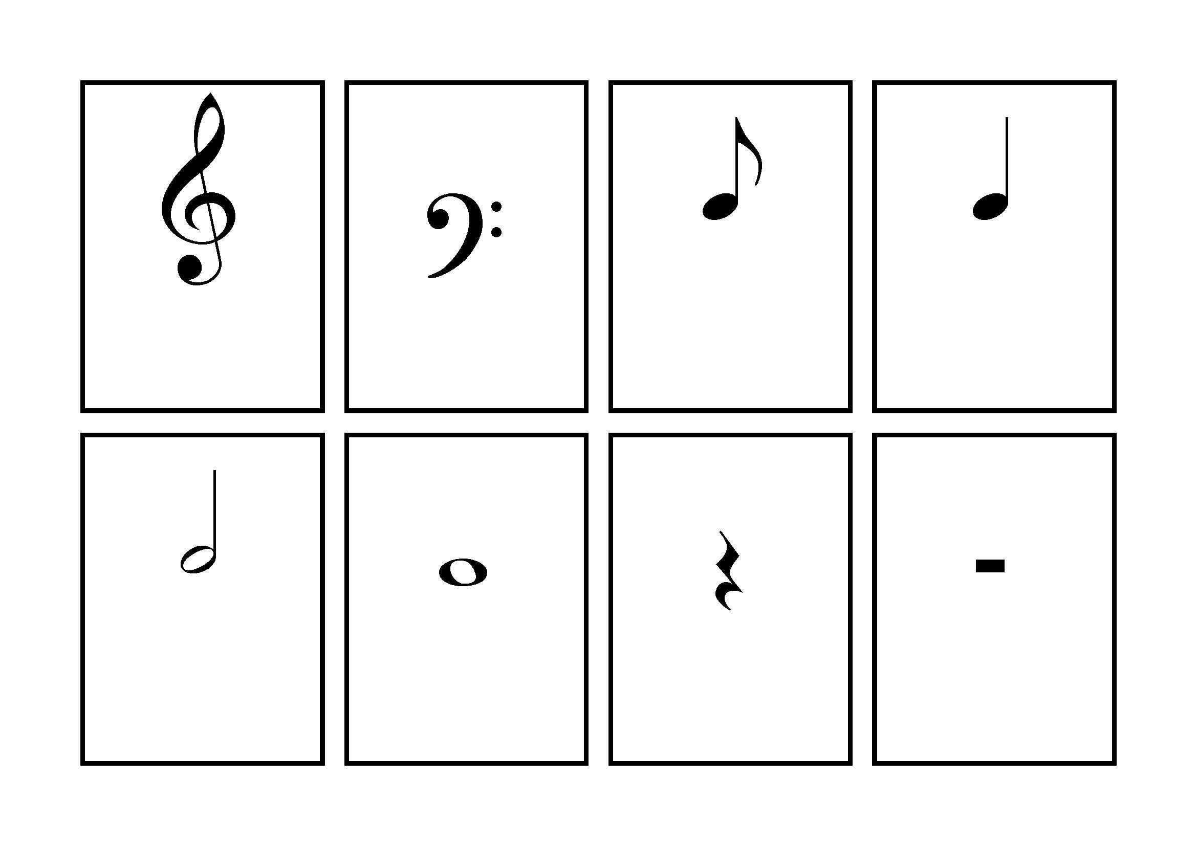 Music Symbol Flash Cards