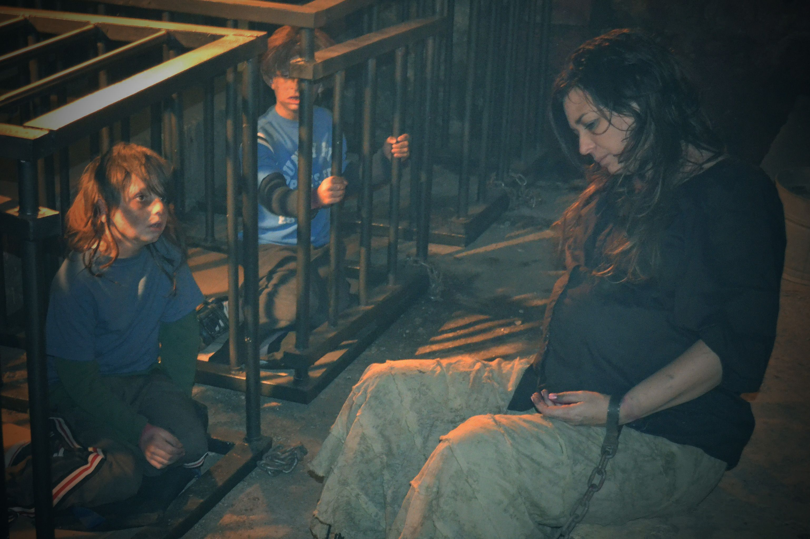 The boys in cages, basement scene HOLLOW CREEK MOVIE
