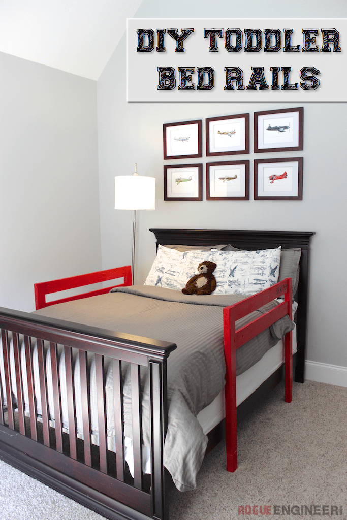 DIY Toddler Bed Rail Toddler bed rails, Diy toddler bed