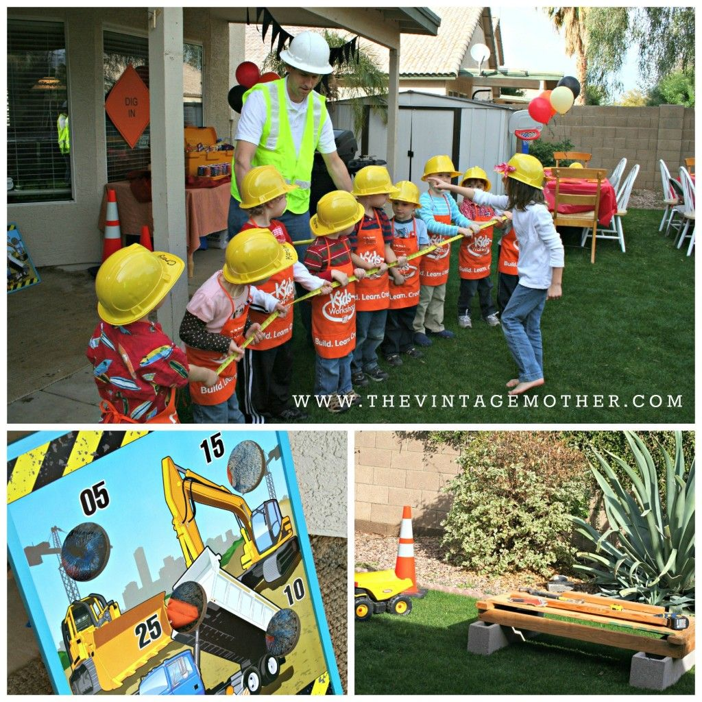 Construction Party Ideas Tug Of War Is A Great Activity That A Lot Of Younger Kids Have Never