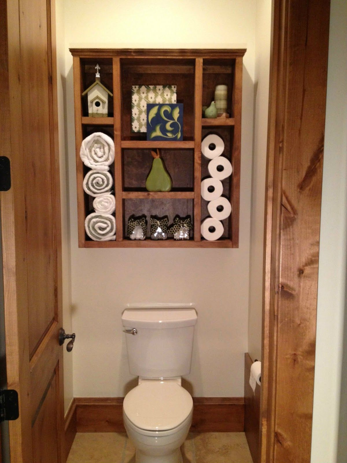 Dad Built This Bathroom Shelf this would totally be a