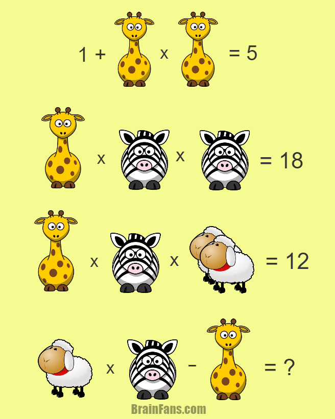 Brain teaser Number And Math Puzzle Hard math puzzle