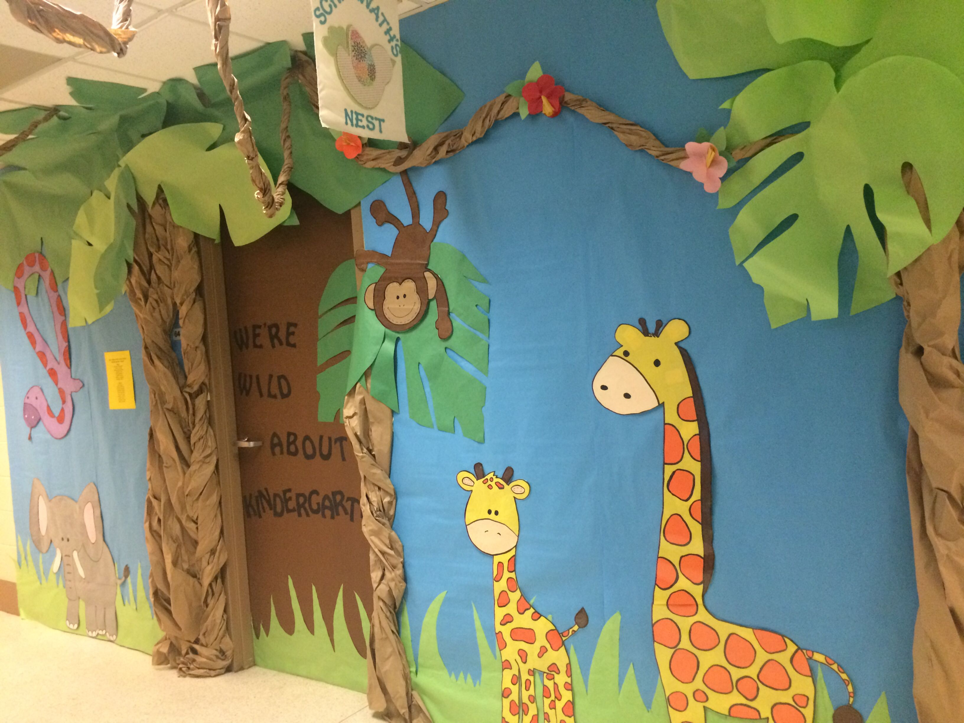Africa Themed Kindergarten Door Decoration Classroom Door