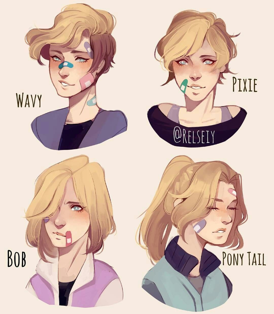Hair reference for Slapstick Art life ⭐️ Pinterest