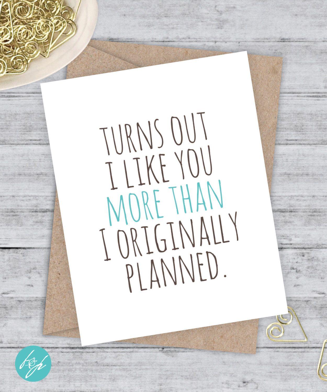 I love you card Boyfriend Card Awkward Card Snarky Card