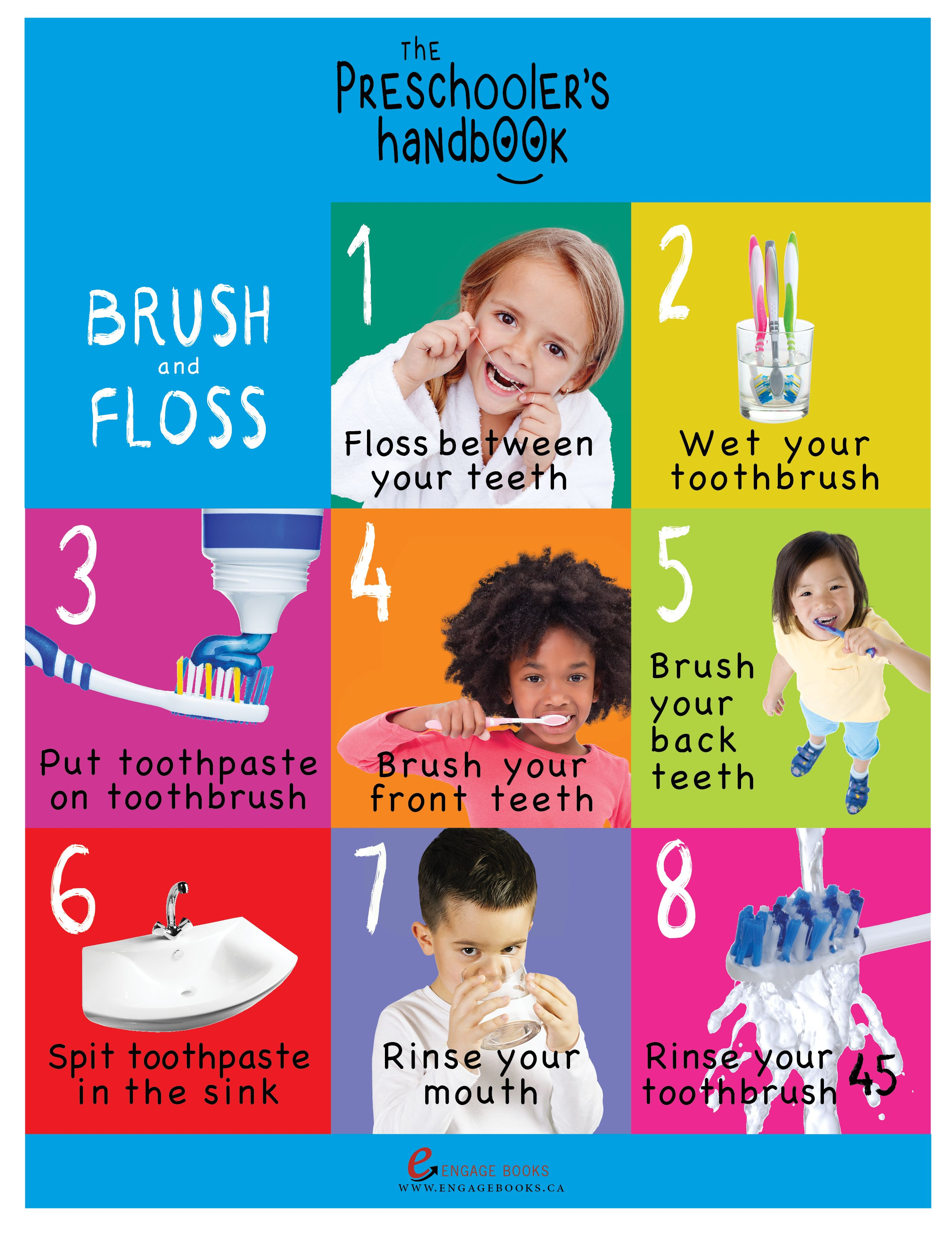Free Printable Teeth Brushing Steps For Preschoolers From