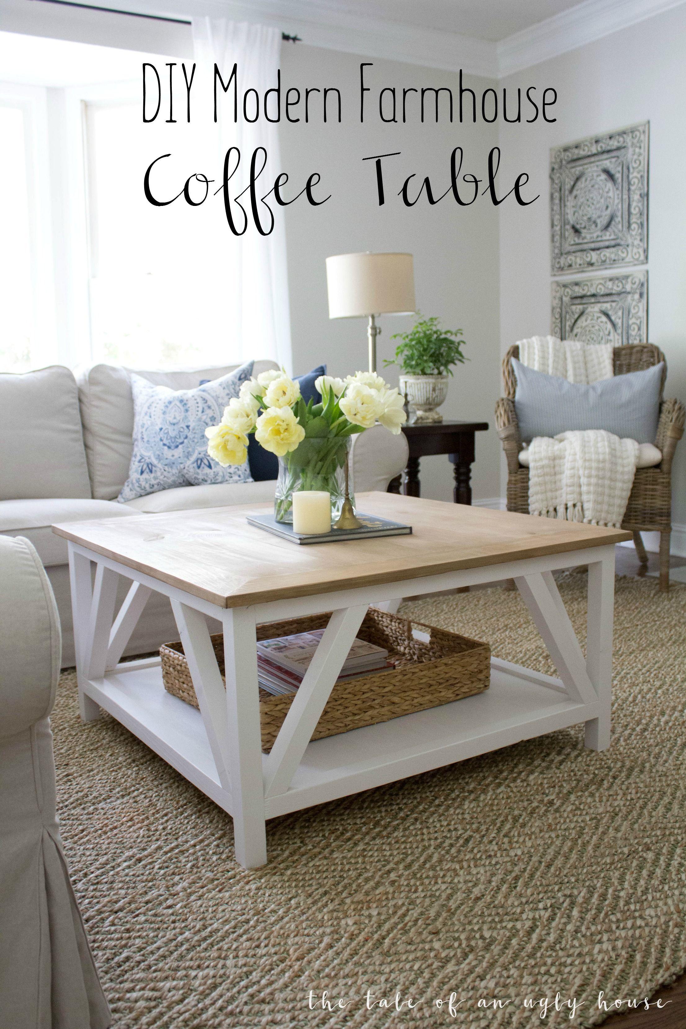 How to build a DIY Modern Farmhouse Coffee Table Classic