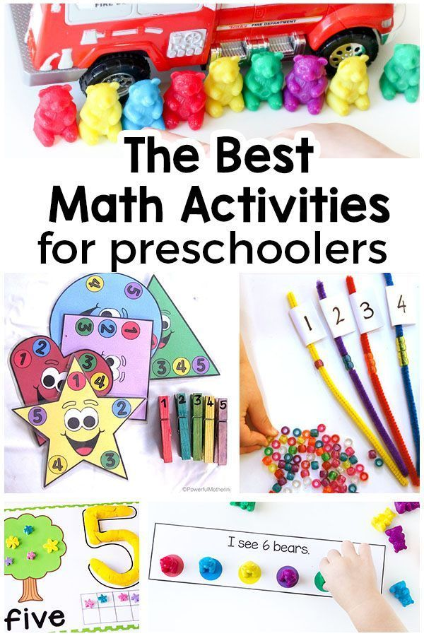 The Best Preschool Math Activities Preschool math