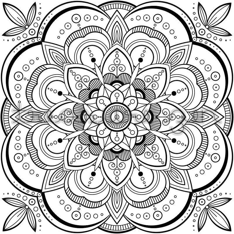 PDF Mandala Coloring Book Page Printable Adult Coloring