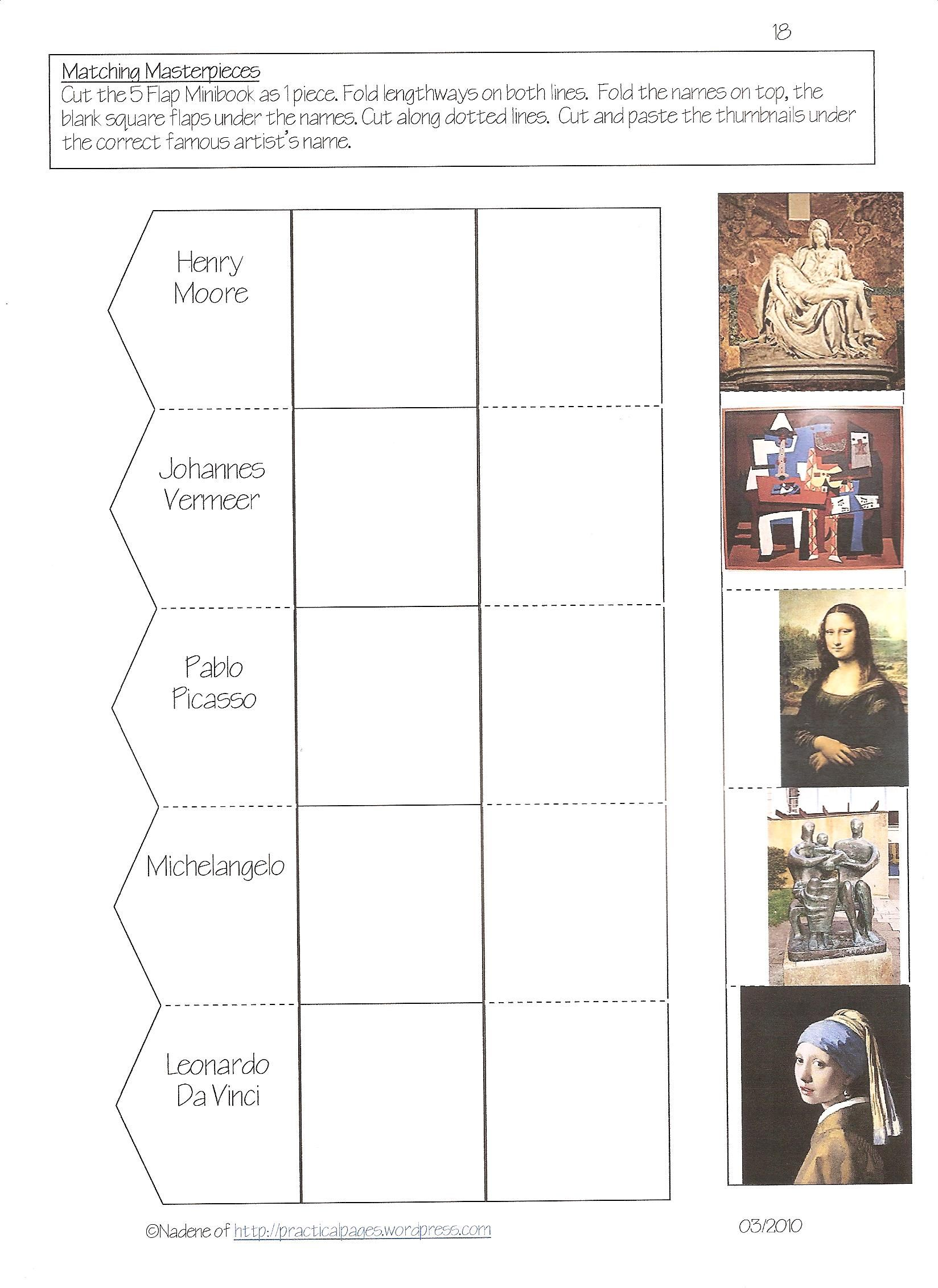 Davinci Worksheets For High School Davinci Best Free