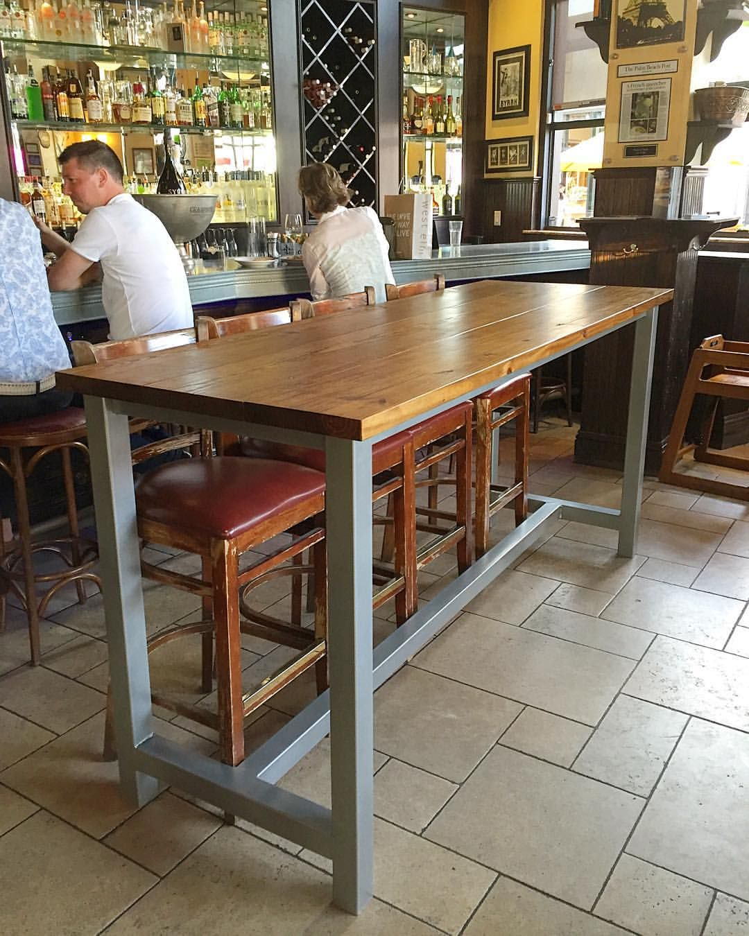 Bar height table with metal legs … Pinteres…