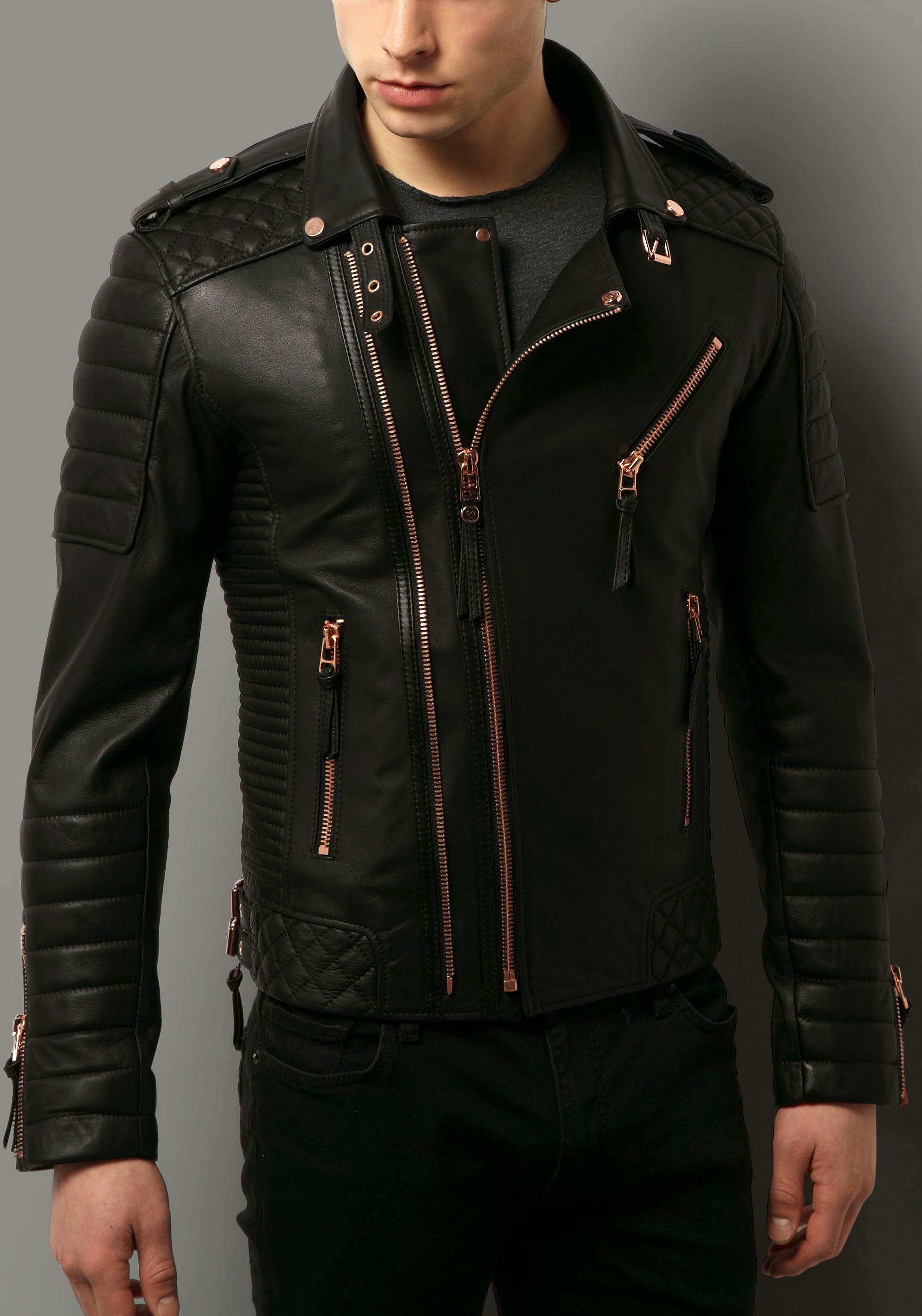 Kay Michaels Quilted Biker V.2 (Rose Gold Hardware) My