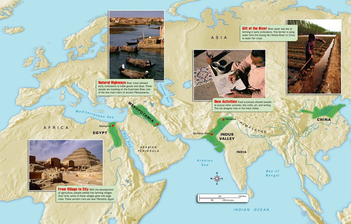 The Earliest Civilizations Emerged In A Egypt Along The Nile River Valley At About 3 000 Bce B