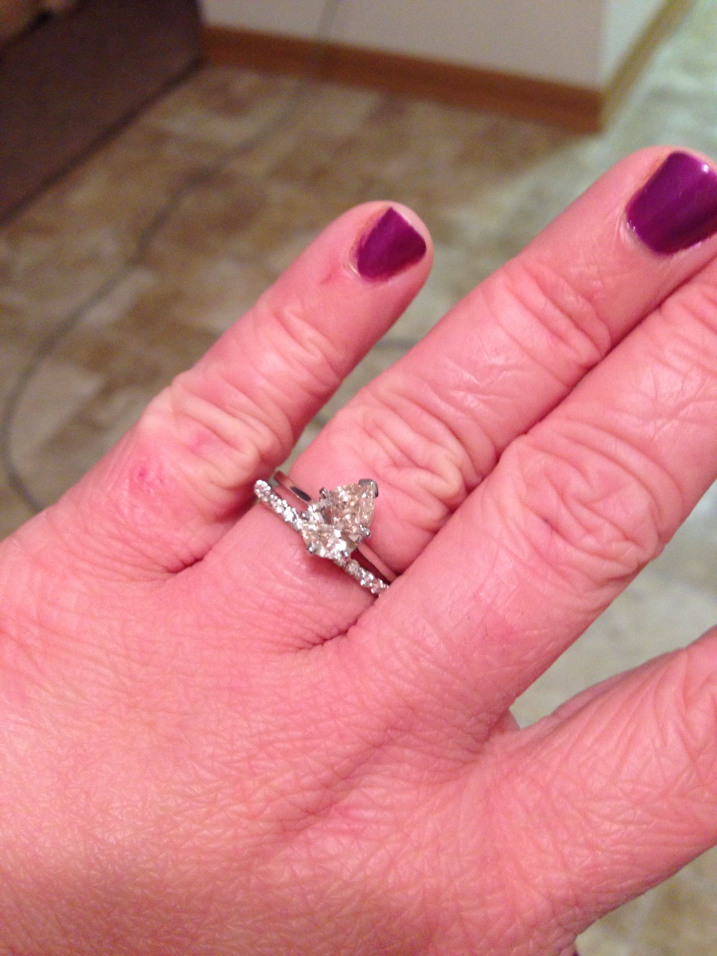 My Beautiful 13 Carat Pear Diamond Solitaire With My Pave