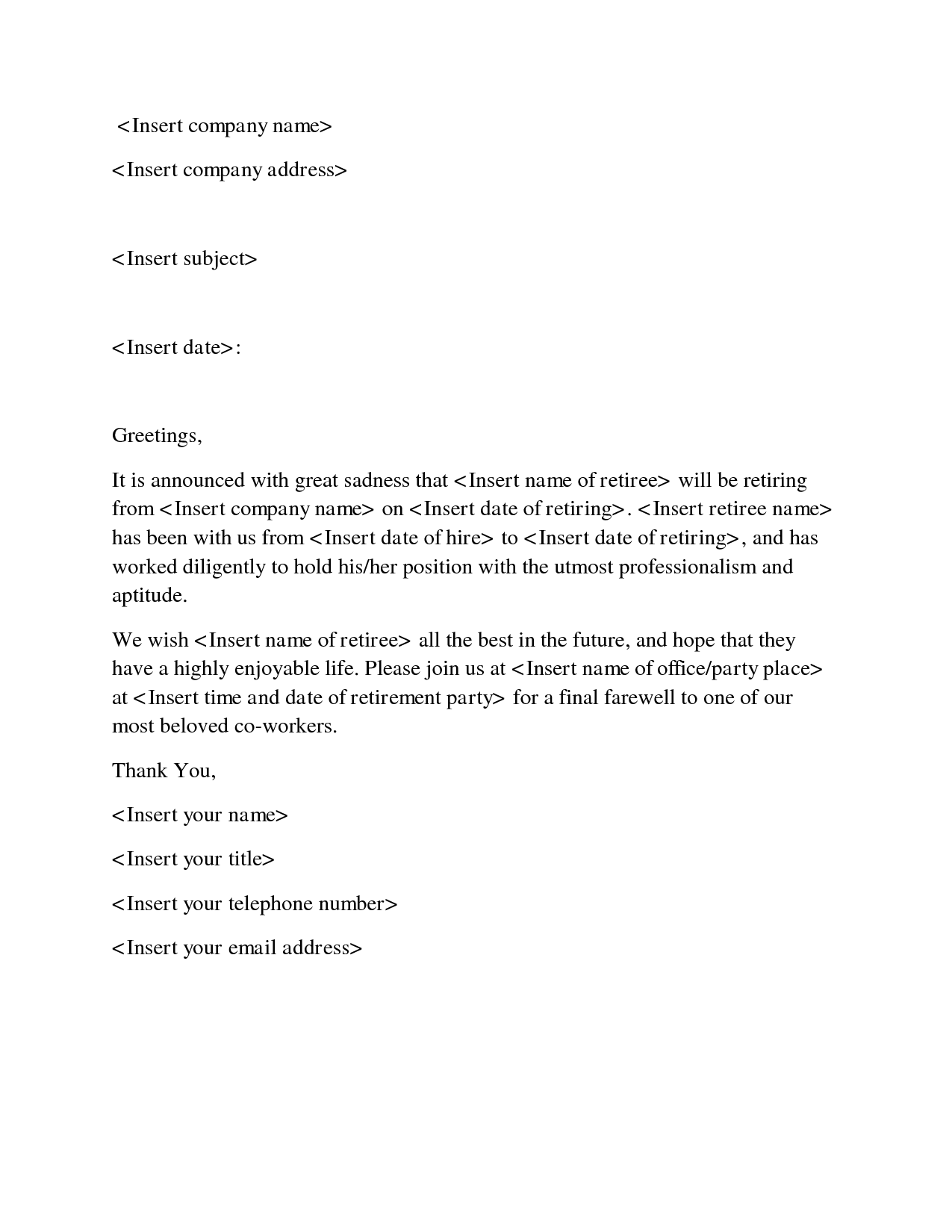 Sample Goodbye Letter To Boss After Resignation