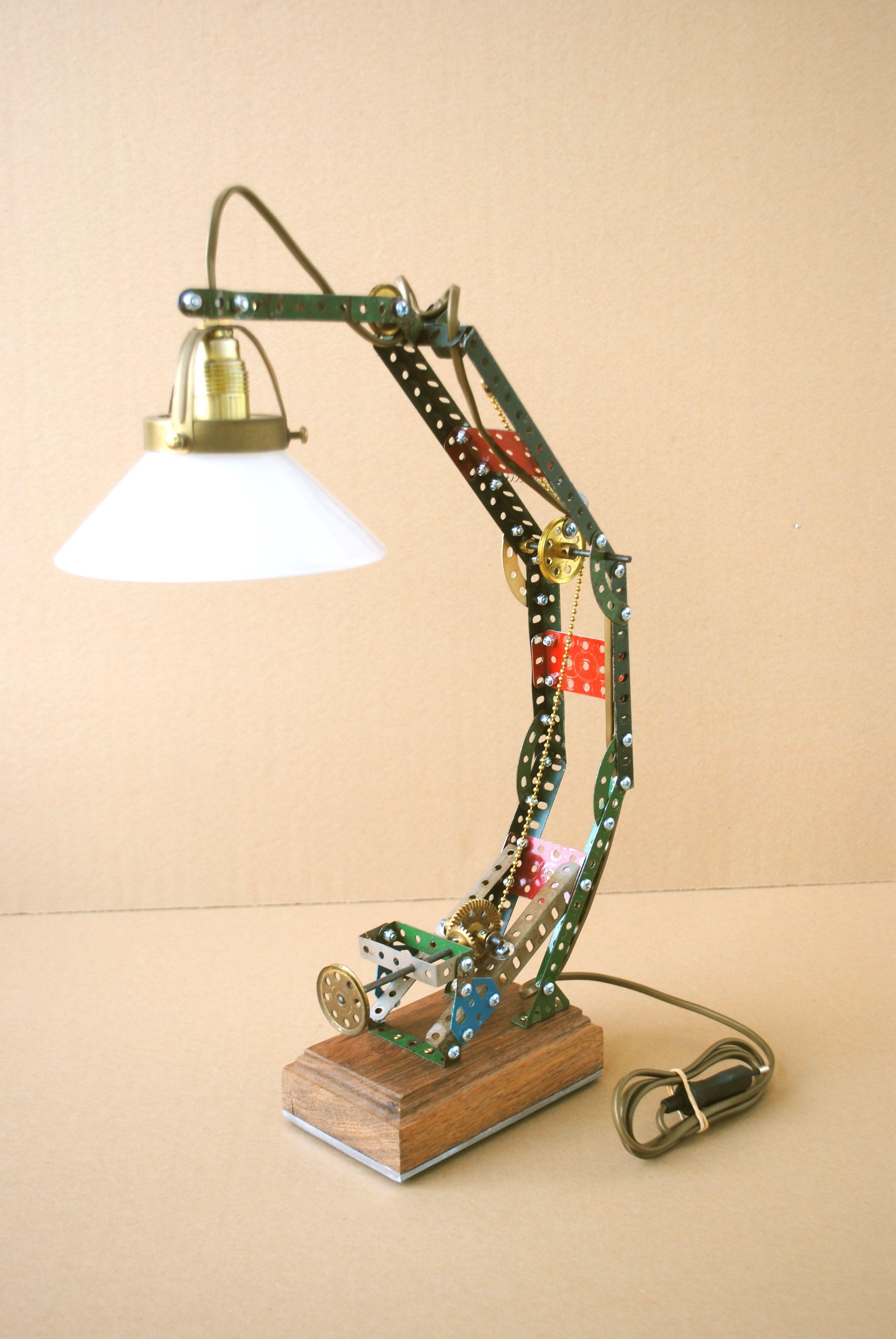 meccano lamp Caught my eye Pinterest Antique toys