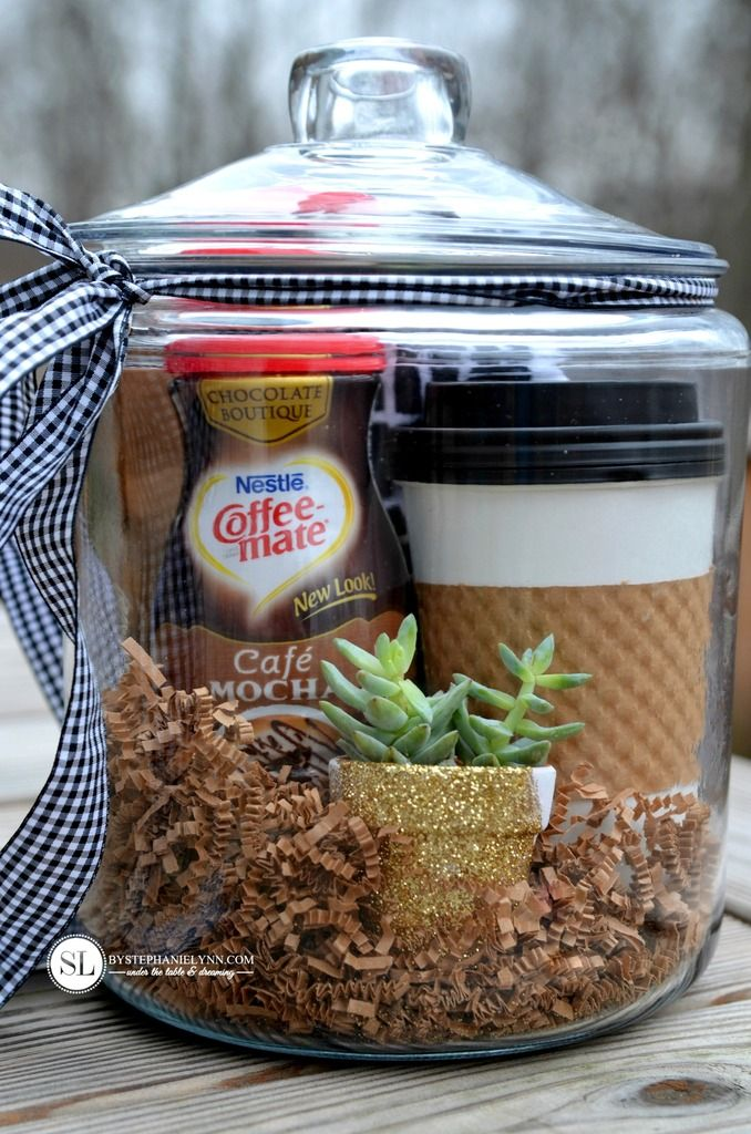 Coffee Gift Baskets coffee and crafting party
