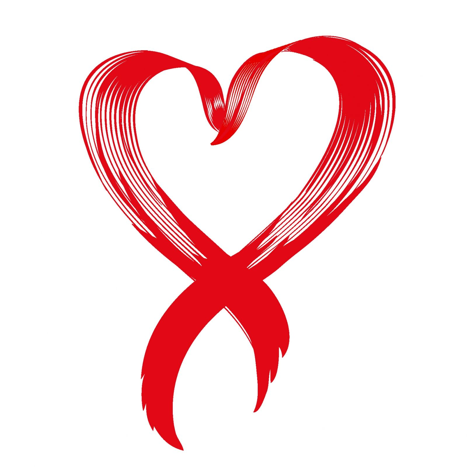 Love awareness ribbon vector Clipart Panda Free