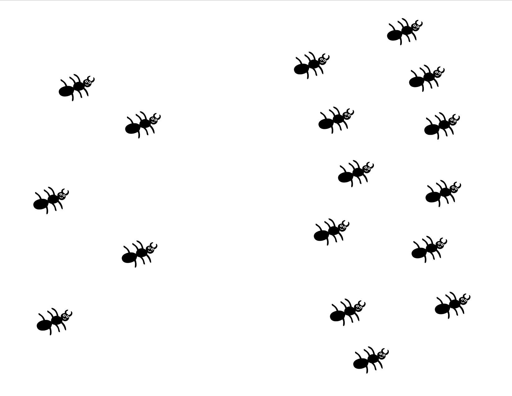 Squish The Ant Counting Print Cut In Half Use Half