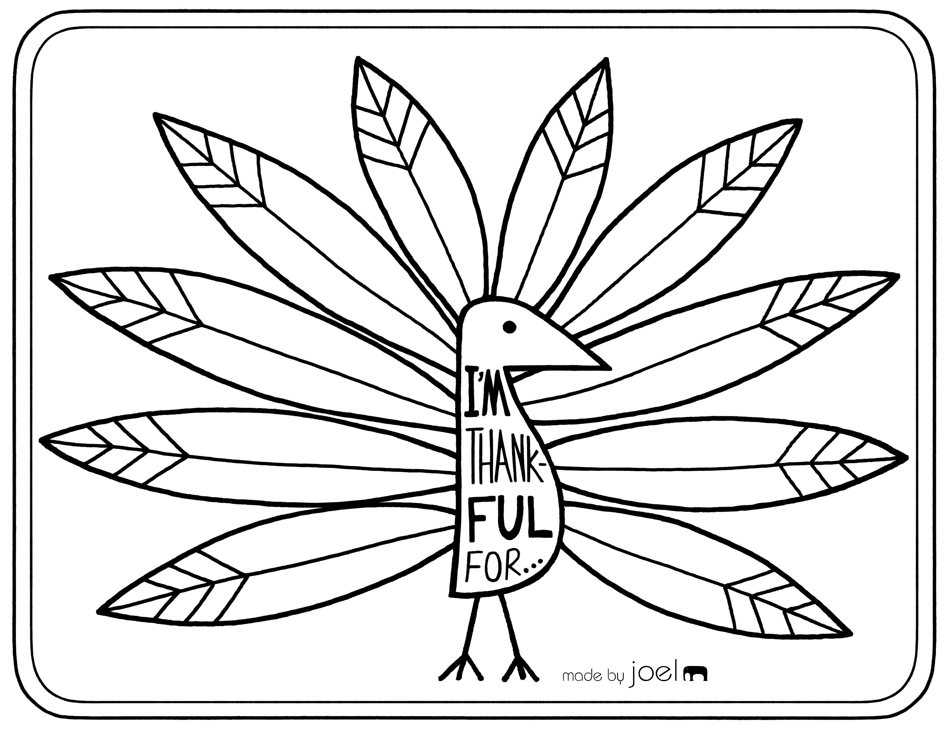Free Printable Placemat For Giving Thanks