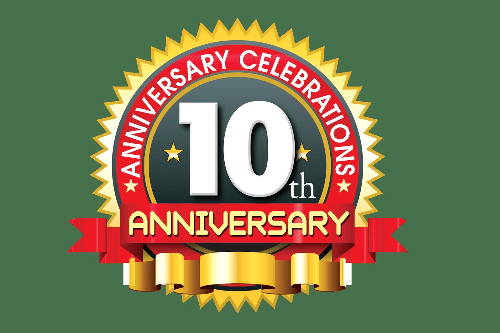 10th Anniversary Logo,10 year anniversary creative concept