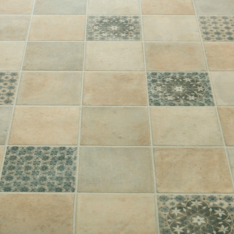Atlas 593 Salsa Grey Moroccan Patterned Vinyl Flooring