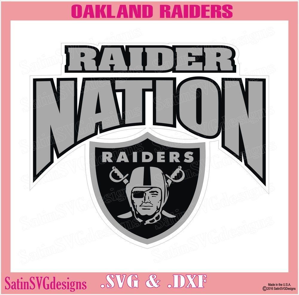 Oakland Raiders Nation Arch Design SVG Files, Cricut