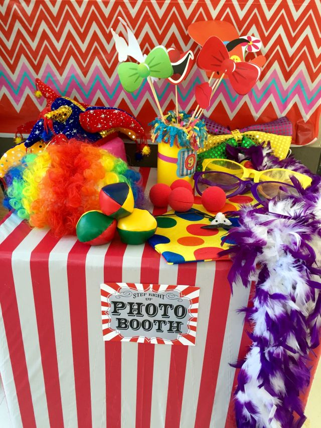 Carnival party photo booth girl birthday party
