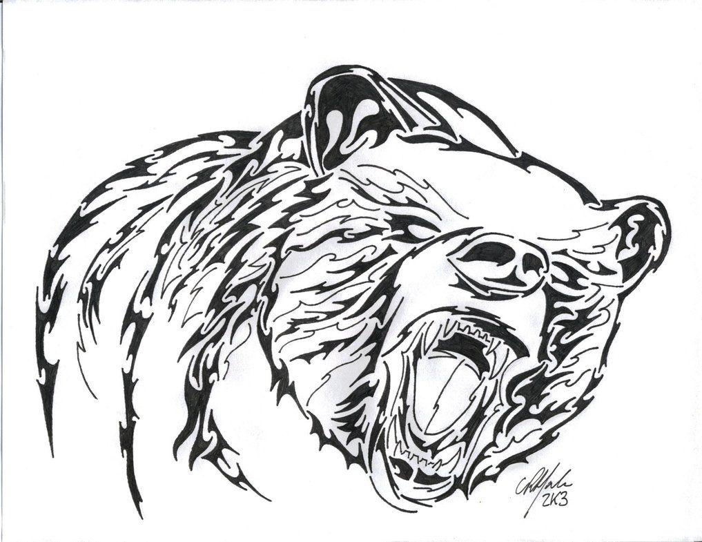 tribal bear Tribal Beartattoo Design drawings